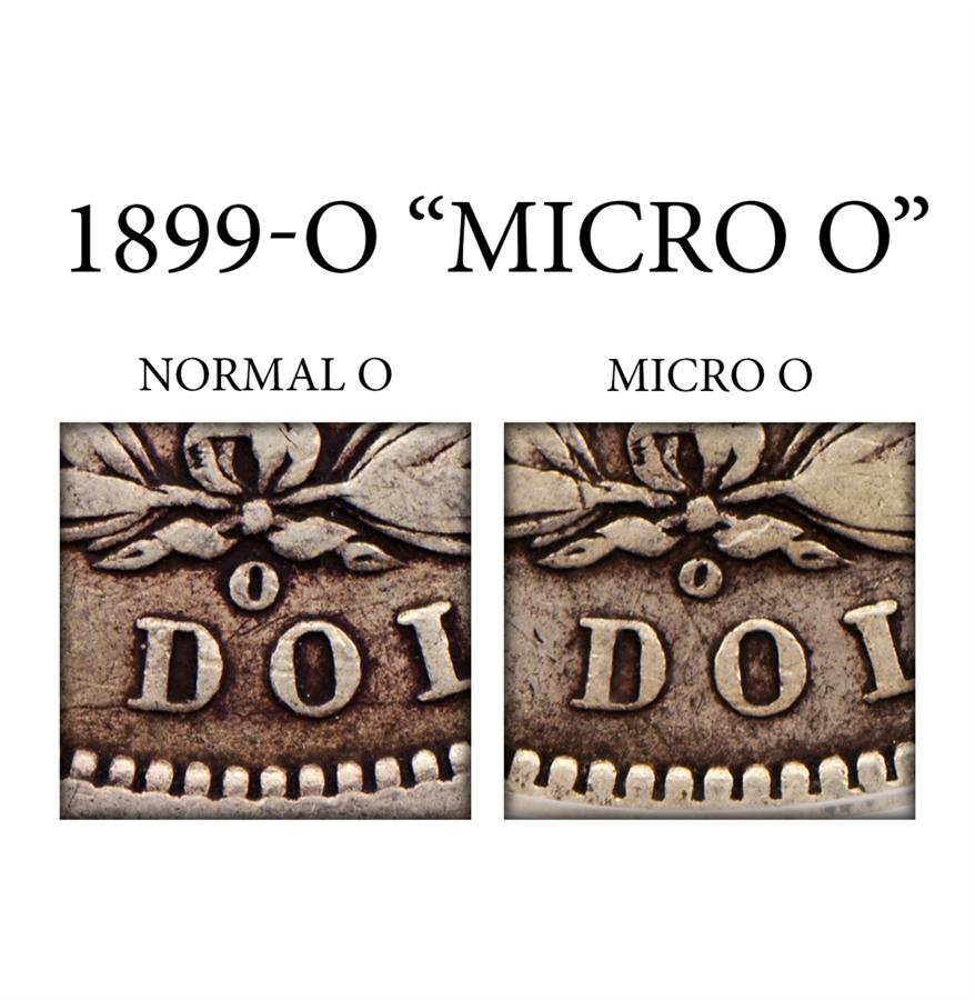 1899 Morgan Silver Dollar Micro O Error Certified