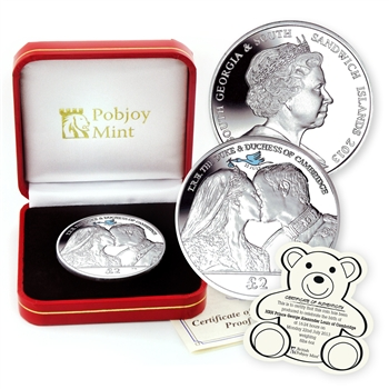 2013 Royal Baby Birth Crown Silver Proof