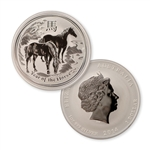 2014 Australian Year of the Horse 1 oz Silver