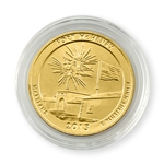 2013 Maryland Fort McHenry Qtr - Philadelphia - Gold in Capsule