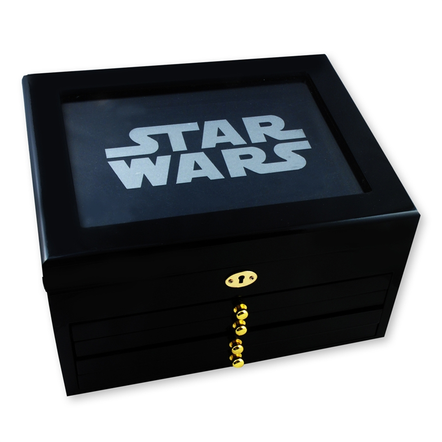 2011 Star Wars Collectible Coin Wooden Display Box