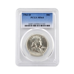 1963 Franklin Half Dollar - Denver - PCGS 64