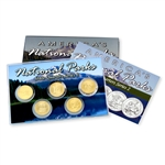 2013  National Parks Quarter Mania Set - San Francisco - Uncirculated - Gold Layered