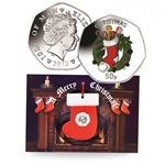 2013 IOM Colorized Christmas Coin w/ Card