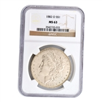 1882 Morgan Silver Dollar - New Orleans ( O ) - Certified 63