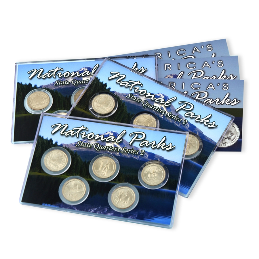 2013-S NATIONAL PARKS QUARTERS FIVE QUARTERS SET UNCIRCULATED FROM MINT ROLLS