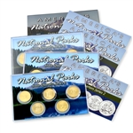 2013 National Parks Quarter Mania Set - PDS - Uncirculated - Gold Layered