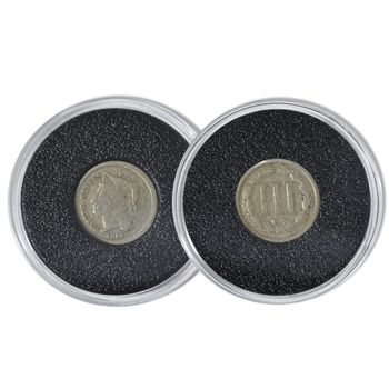 US 3 Cent piece - Nickel