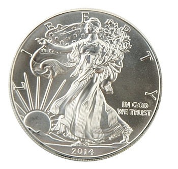 2014 Silver Eagle - Uncirculated - Display Lens