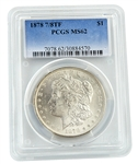 1878 7 over 8 Tail Feather Morgan