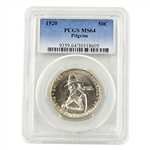 1920 Pilgrim Tercentenary Commemorative Half Dollar - Certified 63