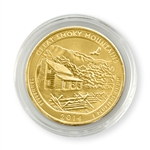 2014 Tennessee Great Smoky Mountains Qtr - Philadelphia - Gold in Capsule