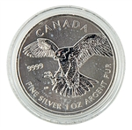 2014 Canadian Peregrine Falcon $5 Silver - Uncirculated