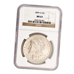 1899 Morgan Silver Dollar - New Orleans ( O ) - Certified 63