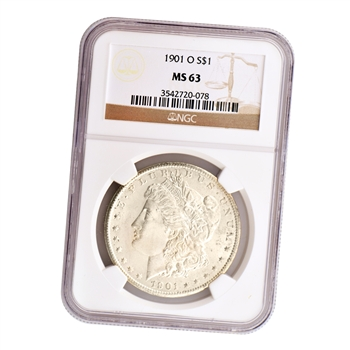 1901 Morgan Silver Dollar - New Orleans ( O ) - NGC MS63