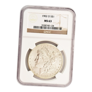 1902 Morgan Silver Dollar - New Orleans ( O ) - NGC MS63