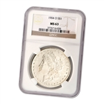 1904 Morgan Silver Dollar - New Orleans ( O ) - Certified 63