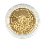 2014 Virginia Shenandoah National Park Quarter - Philadelphia - Gold in Capsule