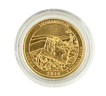 2014 Virginia Shenandoah National Park Quarter - Denver - Gold in Capsule