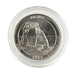 2014 Utah Arches National Park Quarter - Denver - Uncirculated in Capsule