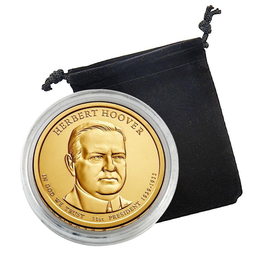 2014 D Herbert Hoover Presidential Dollar Coin Uncirculated Denver BU