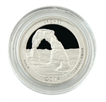 2014 Utah Arches National Park Quarter - San Francsico - Silver Proof in Capsule