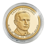 2014 John Calvin Coolidge Presidential Dollar - Gold - Denver