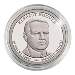 2014 Herbert Hoover Presidential Dollar - Philadelphia - Platinum Plated in Capsule