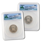2010 Hot Springs Quarters - Philadelphia & Denver Mint - ANACS MS67