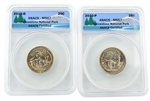 2010 Yellowstone National Park Quarter - P/D Set - ANACS MS67