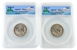 2011 Glacier National Park Quarter - P/D Set - ANACS MS67