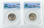 2011 Glacier National Park Quarter - P/D Set - ANACS MS68