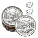 2014 Tennessee Great Smoky Mountains Quarter Collectors Roll - Philadelphia (5) and Denver (5)