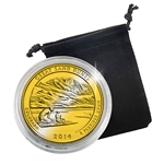 2014 Colorado Great Sand Dunes National Park Quarter - Philadelphia - Gold Plated in a Capsule