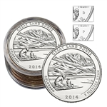 2014 Colorado Great Sand Dunes National Park Quarter Collectors Roll - Philadelphia (5) and Denver (5)