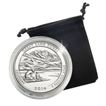 2014 Colorado Great Sand Dunes National Park Quarter - Philadelphia - Platinum Plated in a Capsule
