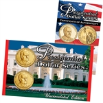 2014 Franklin D. Roosevelt Presidential Dollar Lens Set - Philadelphia and Denver
