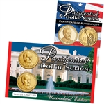 2014 Franklin D. Roosevelt Presidential Dollar Upside Down Lens Set - Philadelphia and Denver