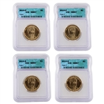 2014 Franklin D. Roosevelt Presidential Dollar - Four Piece Variety Set in MS67
