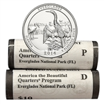 2014 Florida Everglades National Park Quarter - Government P/D Roll Pair