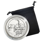 2014 Florida Everglades National Park Quarter - Philadelphia - Platinum in Capsule