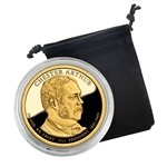 2012 Presidential Dollar Chester Arthur - San Francisco - Proof in Capsule