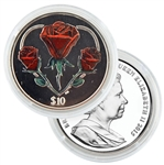 2015 BVI Heart of the Rose - Proof Sterling Silver $10