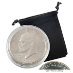 1976 Eisenhower Dollar - Philadelphia - Uncirculated Type I - Capsule