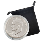 1977 Eisenhower Dollar - Denver - Uncirculated - Capsule