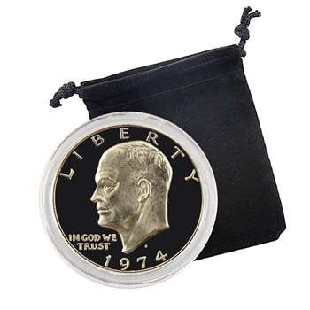 1974 Eisenhower Dollar - San Francisco - Proof - Capsule