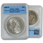 1882 Morgan Silver Dollar - New Orleans ( O ) - Atlanta Rainbow Hoard - ANACS MS62