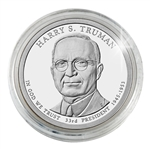 2015 Harry S. Truman Presidential Dollar - Philadelphia - Platinum Plated - Capsule