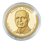 2015 Harry S. Truman Presidential Dollar - Philadelphia - Gold Plated - Capsule
