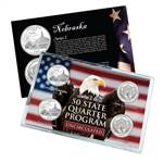 Nebraska Series 1 & 2 - Four Piece Quarter Set - Uncirculated